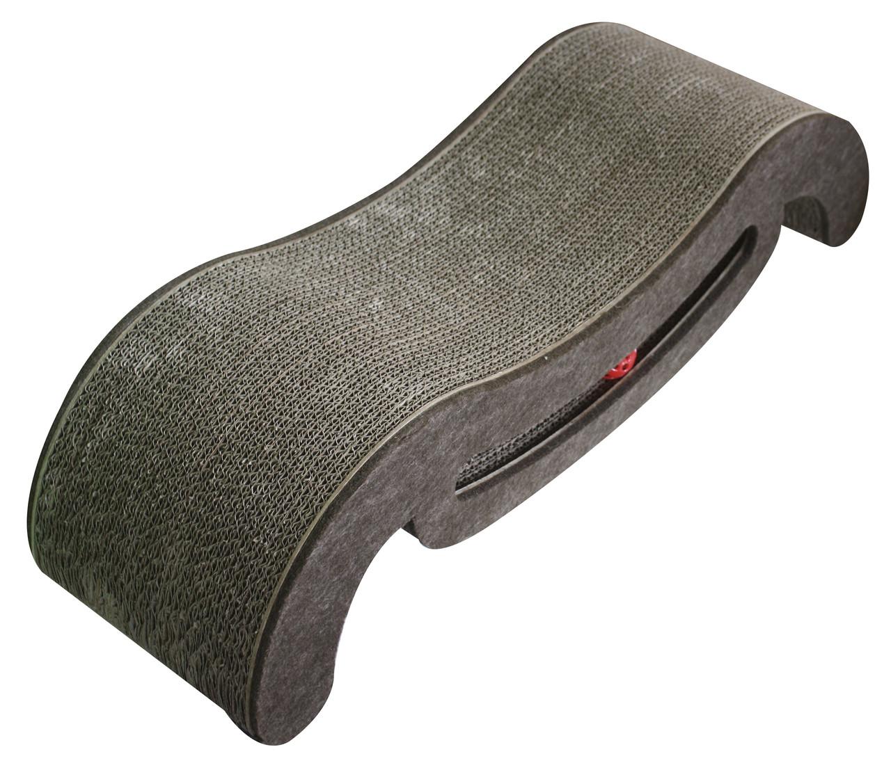 Когтеточка CROCI Papercat Sofa, софа с игрушкой, гофракартон, 69х24х37см *