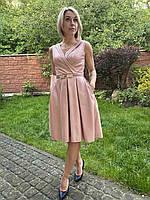 Нарядное нежное платье с красивый вырезом на запах Carlino Rich. Турция.