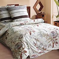 Двуспальное постельное белье бязь гост коричневое мокко бежевое ТМ Блакит  хлопок 120 г/м. кв.
