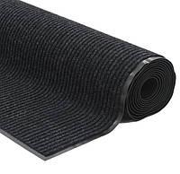 Грязезборная ковровая дорожка 90 х 500см черный