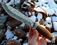 Эксклюзивный Нож Волк дамасская сталь для кухни разделки