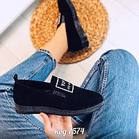 Черные замшевые туфли 38 размер, фото 1