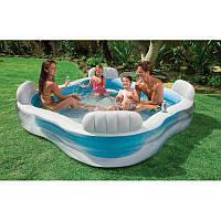 Надувной бассейн Intex 56475, 229Х229Х46см, для семейного отдыха или компании, фото 1
