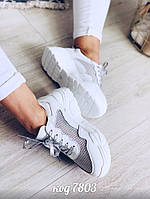 Кожаные белые кроссовки  36 размер, фото 1