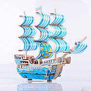 Деревянный конструктор парусное судно 3D, фото 5