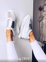 Белые кожаные кроссовки 41 размер, фото 1