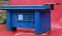 Кассовый бокс c узким накопителем 170х100 см., (Украина), синий/левый, Б/у, фото 1