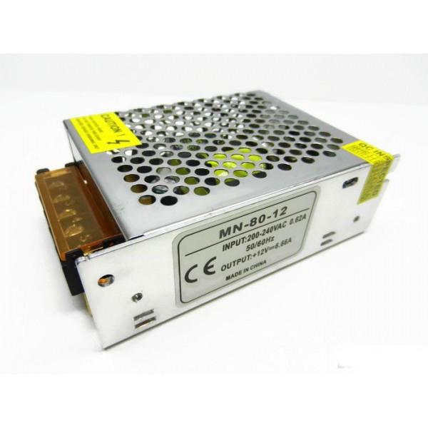 Блок живлення 12V 80W 6.6A MN-80-12 MOTOKO