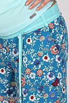 Удобные брюки для беременных в цветочек, размеры от 44 до 50, фото 3