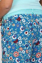Удобные брюки для беременных в цветочек, размеры от 44 до 50, фото 2