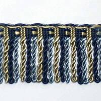 Бахрома имеджен спираль, сине-голубой 6.5 см