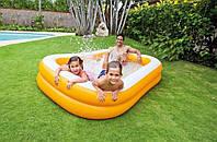 """Детский надувной бассейн Intex 57181 """"Мандарин"""", детские бассейны Интекс, 229-147-46см"""