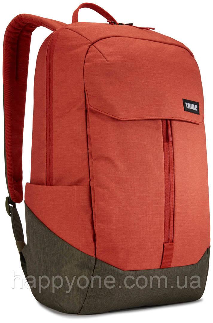 Рюкзак з відділенням для ноутбука Thule Lithos 20л Backpack Rooibos/Forest Night (червоний/сірий)