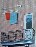 Сушилка для белья настенно-потолочная «Флорис 2 м», фото 5