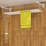Сушилка для белья настенно-потолочная «Флорис 2 м», фото 4