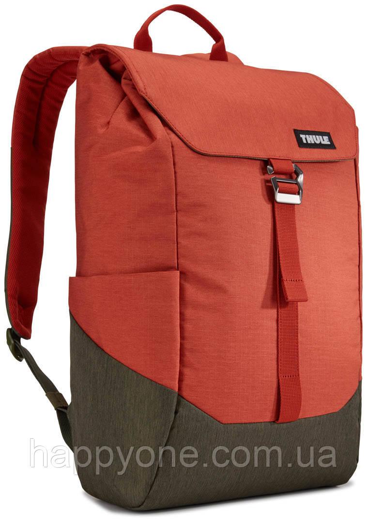 Рюкзак с отделением для ноутбука Thule Lithos 16л Backpack Rooibos/Forest Night (красный/хаки)