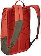 Рюкзак с отделением для ноутбука Thule Lithos 16л Backpack Rooibos/Forest Night (красный/хаки), фото 3