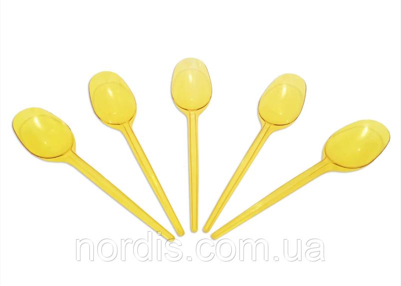 Ложка одноразовая стекловидная желтая (10 штук)