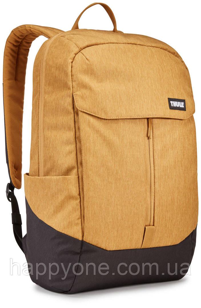 Рюкзак с отделением для ноутбука Thule Lithos 20л Backpack Wood Trush/Black (желтый/черный)