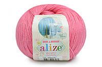 Пряжа Baby Wool 50гр - 175м (33 Розовый) Alize, Детская пряжа (40%-шерсть, 20%-бамбук, 40%-акрил,Турция