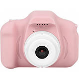 Противоударный цифровой детский фотоаппарат игрушка, видеокамера X200 Smart Kids Camera 3 Series игрушки, фото 4