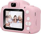 Противоударный цифровой детский фотоаппарат игрушка, видеокамера X200 Smart Kids Camera 3 Series игрушки, фото 6