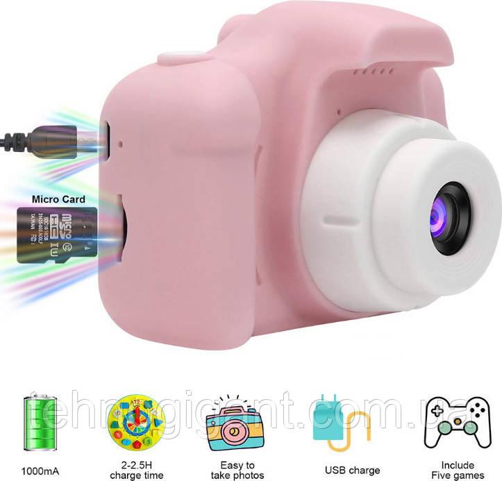 Противоударный цифровой детский фотоаппарат игрушка, видеокамера X200 Smart Kids Camera 3 Series игрушки