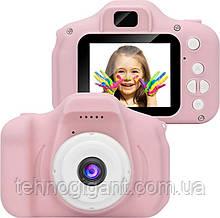 Детский цифровой фотоаппарат с играмиGm14, детская камера ( розовый )