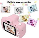 Противоударный цифровой детский фотоаппарат игрушка, видеокамера X200 Smart Kids Camera 3 Series игрушки, фото 2