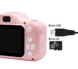 Противоударный цифровой детский фотоаппарат игрушка, видеокамера X200 Smart Kids Camera 3 Series игрушки, фото 9
