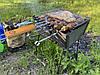 Мангал разборной, мангал чемодан на 10 шампуров