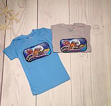 Детская футболка для мальчика мигающая р. 5-8 лет