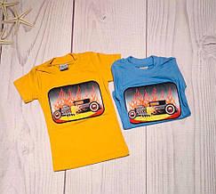 Детская футболка для мальчика мигающая р. 1-4 лет