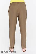 Тонкие брюки для беременных цвета хаки, размеры от 44 до 50, фото 3