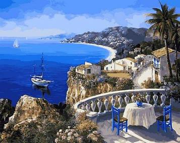 Картина по номерам 40×50 см. Mariposa Ницца Франция - Жемчужина лазурного берега (Q 2108)