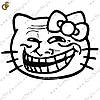 "Наклейка ""Trollface Kitty"""