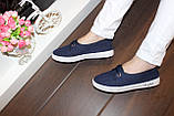 Кеды женские синие Т1063, фото 7