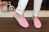 Кеды женские ярко-розовые Т1066, фото 5