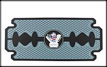 Резиновый мат-коврик для инструментов в форме лезвия Barber Razor Blade  44 см*20см