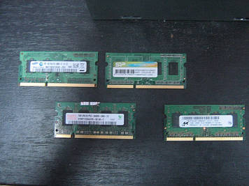 Модуль памяти SO-DIMM Micron DDR3 1GB, MT8JSF12864HZ-1G1F1 1066MHz, PC3-8500, для ноутбука