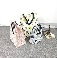 Тканинна сумка шоппер Зайчики, фото 2