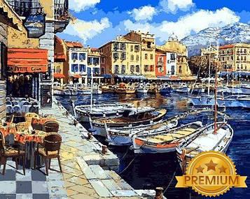 Картина по номерам 40×50 см. Babylon Premium (цветной холст + лак) Послеобеденный Понт-Авен Франция  (NB1064)