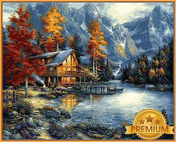 Картина за номерами 40×50 см Babylon Premium (кольоровий полотно + лак) Простір для роздумів Митець Чак Пінсон
