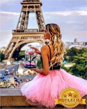 Картина за номерами 40×50 див. Babylon Premium (кольоровий полотно + лак) Квітка Парижа (NB 1235)