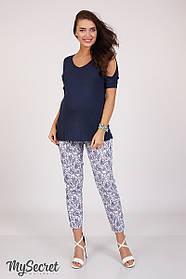 Оригинальные брюки для беременных из стрейч-коттона, размеры от 44 до 48