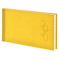 Еженедельник Brunnen Tweed 2020 карманный датированный желтый (73-755 32 10)