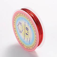 Медная Проволока 1мм/2м, Цвет: Красный, Толщина 1 мм, около 2м/катушка, (УТ0028124)