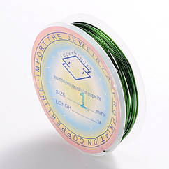 Медная Проволока 1мм/2м, Цвет: Зеленый, Толщина 1 мм, около 2м/катушка, (УТ0028122)