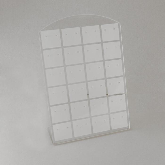Подставка для Сережек, Белая, Размер: Высота 13см, Ширина 9см/ Упак.: 1 шт