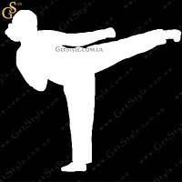 """Наклейка """"Karate Girl"""""""